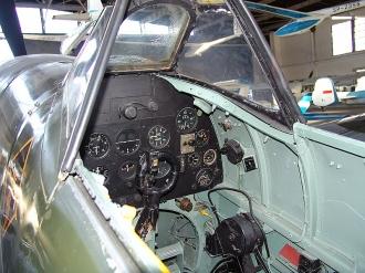 Krakow Spitfire cockpit